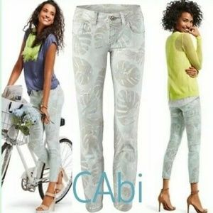 CAbi #227 Paradise Palm Super Skinny Crop Size 2